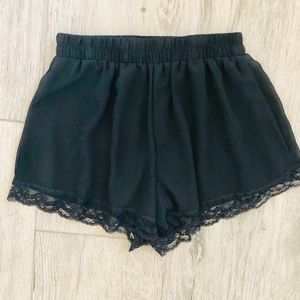 Lush Lace Trimmed Shorts